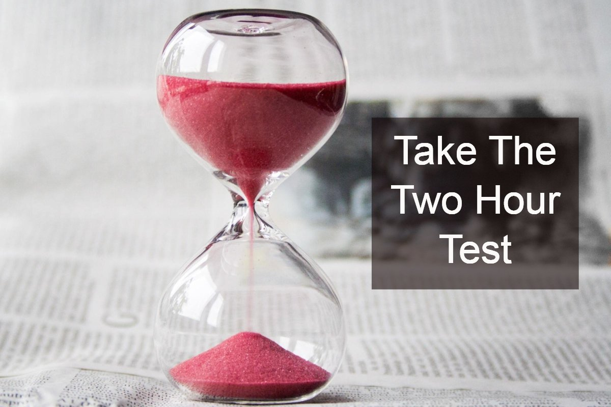 "This ""Two Hours A Week Test"" Could Really Change Your Working Life"